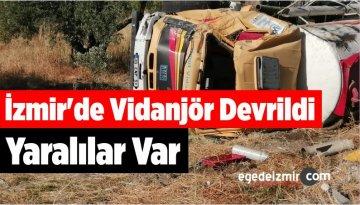 İzmir'de Vidanjör Devrildi Yaralılar Var