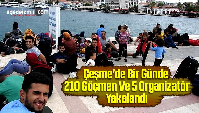 Çeşme'de Bir Günde 210 Göçmen Ve 5 Organizatör Yakalandı