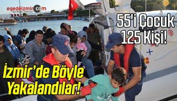 İzmir'de 55'i Çocuk 125 Düzensiz Göçmen Yakalandı