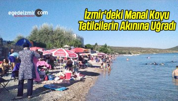 İzmir'deki Manal Koyu Tatilcilerin Akınına Uğradı