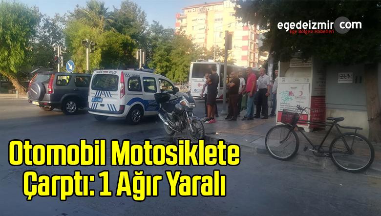 Otomobil Motosiklete Çarptı: 1 Ağır Yaralı