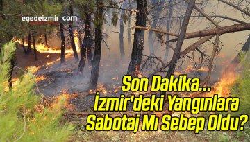 Son Dakika…İzmir'deki Yangınlara Sabotaj Mı Sebep Oldu?