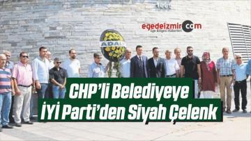 CHP'li Belediyeye İYİ Parti'den Siyah Çelenk