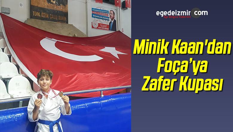 Minik Kaan'dan Foça'ya Zafer Kupası