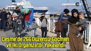 Çeşme'de 266 Düzensiz Göçmen ve İki Organizatör Yakalandı