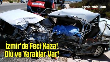 İzmir'de Kamyonet ile Otomobil Çarpıştı!