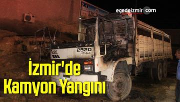 İzmir'de Kamyon Yangını