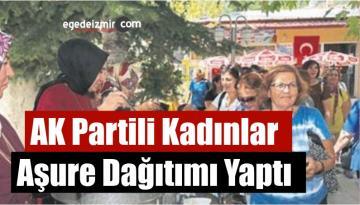 AK Partili Kadınlar Aşure Dağıtımı Yaptı