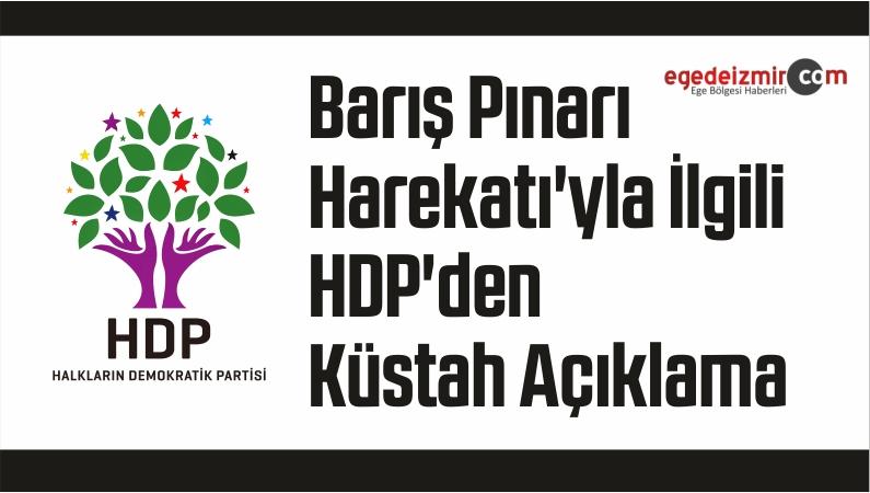 Barış Pınarı Harekatı'yla İlgili HDP'den Küstah Açıklama