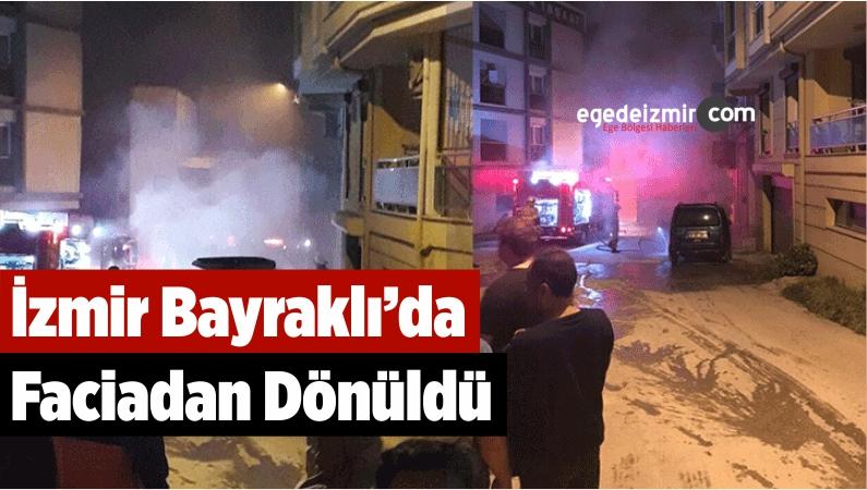 İzmir Bayraklı'da Faciadan Dönüldü