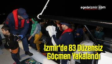İzmir'de 83 Düzensiz Göçmen Yakalandı