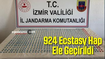 İzmir'de 924 Ecstasy Hap Ele Geçirildi