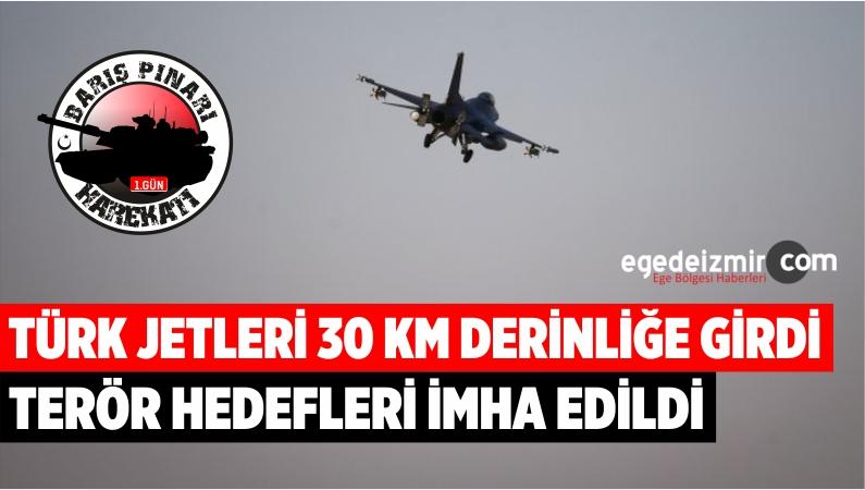 Türk Jetleri 'Barış Pınar Harekatı'nda 30 KM Derinliğe Girdi