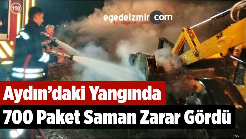 Aydın'daki Yangında 700 Paket Saman Zarar Gördü