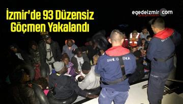 İzmir'de 93 Düzensiz Göçmen Yakalandı