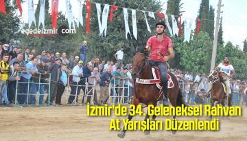İzmir'de 34. Geleneksel Rahvan At Yarışları Düzenlendi