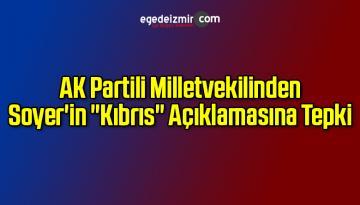 """AK Partili Vekilden Tunç Soyer'in """"Kıbrıs"""" Açıklamalarına Tepki"""