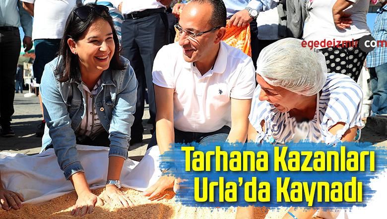 Tarhana Kazanları Urla'da Kaynadı