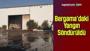 Bergama'da Çırçır Fabrikasında Yangın