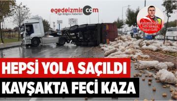 Afyonkarahisar'da Feci Kaza! Karayolu Patates Tarlasına Döndü