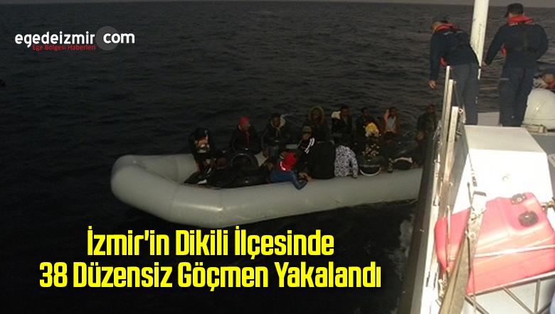 İzmir'in Dikili İlçesinde 38 Düzensiz Göçmen Yakalandı