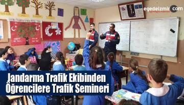 Jandarma Trafik Ekibinden Öğrencilere Trafik Semineri