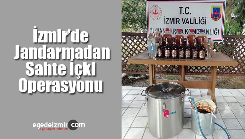 İzmir'de Jandarmadan Sahte İçki Operasyonu
