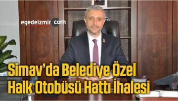 Simav'da Belediye Özel Halk Otobüsü Hattı İhalesi