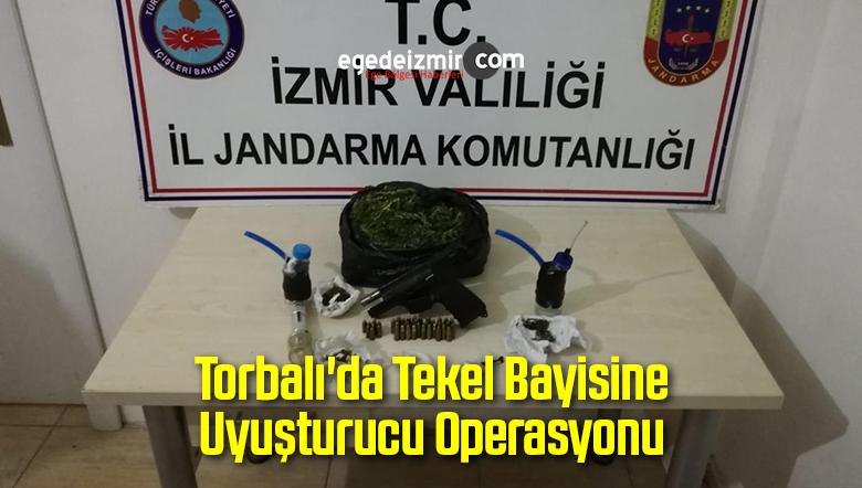 Torbalı'da Tekel Bayisine Uyuşturucu Operasyonu