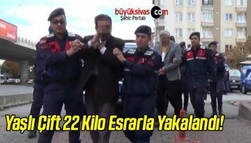 Yaşlı Çift 22 Kilo Esrarla Yakalandı!