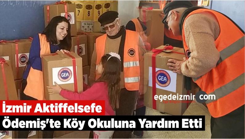 İzmir Aktiffelsefe Ödemiş'te Köy Okuluna Yardım Etti