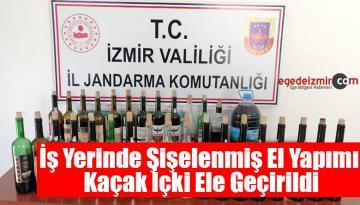 İzmir'de Bir İş Yerinde Şişelenmiş El Yapımı Kaçak İçki Ele Geçirildi
