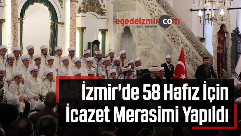 İzmir'de 58 Hafız İçin İcazet Merasimi Yapıldı