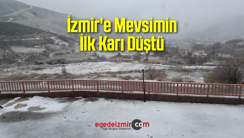 İzmir'e Mevsimin İlk Karı Düştü