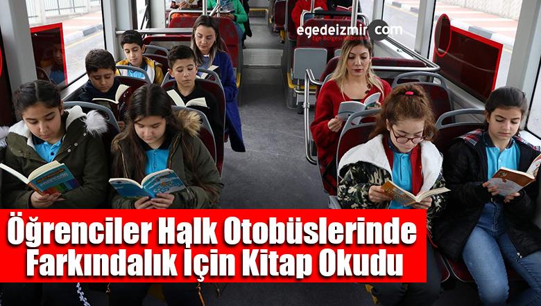 Öğrenciler Halk Otobüslerinde Farkındalık İçin Kitap Okudu