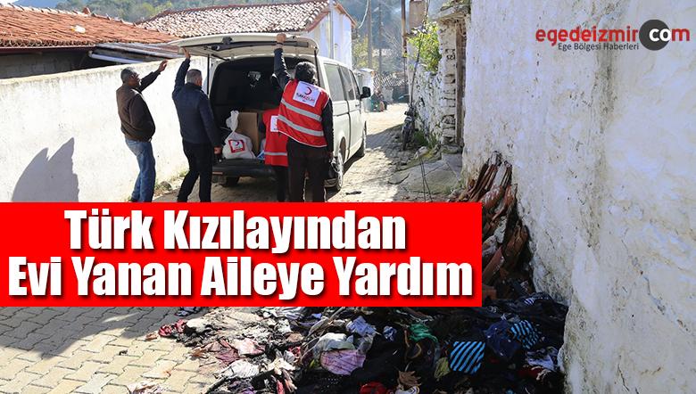 Türk Kızılayından Evi Yanan Aileye Yardım Eli Uzatıldı