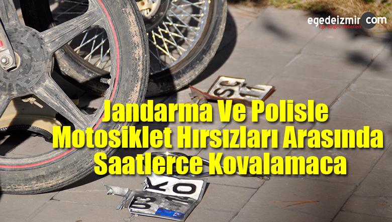 Jandarma Ve Polisle Motosiklet Hırsızları Arasında Saatlerce Kovalamaca