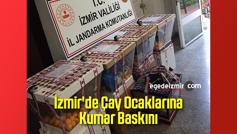 İzmir'de Çay Ocaklarına Kumar Baskını