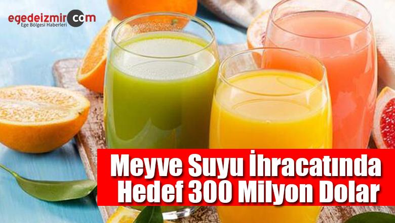 Meyve Suyu İhracatında 2020 Hedefi 300 Milyon Dolar