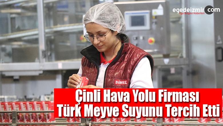 Çinli Hava Yolu Firması Türk Meyve Suyunu Tercih Etti