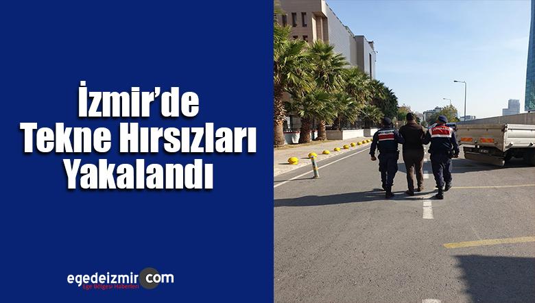 İzmir'in Güzelbahçe İlçesinde Tekne Hırsızları Yakalandı