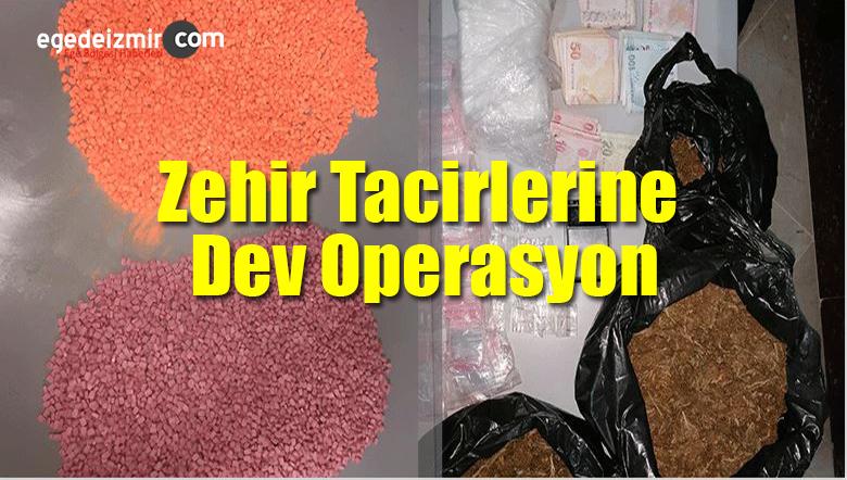İzmir Bayraklı Ve Karşıyaka'da Zehir Tacirlerine Dev Operasyon