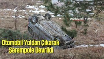 Otomobil Yoldan Çıkarak Şarampole Devrildi: 5 Yaralı
