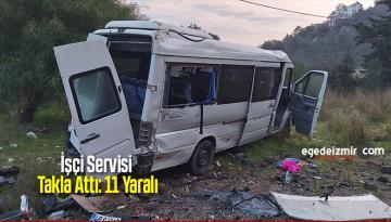 İşçi Servisi Takla Attı: 11 Yaralı