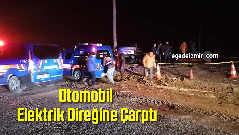 Afyonkarahisar'da Otomobil Elektrik Direğine Çarptı: 1 Ölü