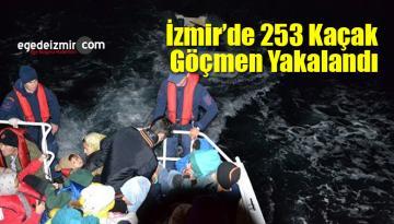 İzmir Sahil Güvenlik 253 Kaçak Göçmen Daha Yakaladı