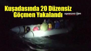 Aydın'ın Kuşadası İlçesinde 20 Düzensiz Göçmen Yakalandı