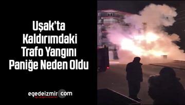 Uşak'ta Kaldırımdaki Trafo Yangını Paniğe Neden Oldu
