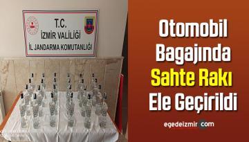İzmir'de Otomobil Bagajında Sahte Rakı Ele Geçirildi
