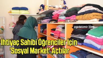 Ortaokulda İhtiyaç Sahibi Öğrenciler İçin 'Sosyal Market' Açtılar